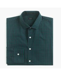 J.Crew | Green Ludlow Shirt In Midnight Gingham for Men | Lyst