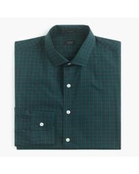 J.Crew - Green Ludlow Shirt In Midnight Gingham for Men - Lyst