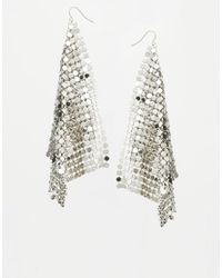 ASOS | Metallic Chainmail Earrings | Lyst