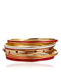 Astley Clarke - Red Ruby Rose Enamel Bangle - Lyst