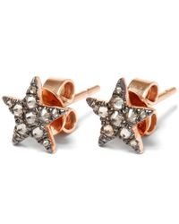 Annoushka | Pink Rose Gold Love Diamonds Star Stud Earrings | Lyst