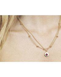 Davina Combe | Metallic Rhodolite Sienna Necklace | Lyst