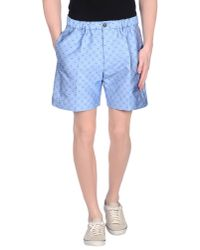 DSquared² - Blue Bermuda Shorts for Men - Lyst