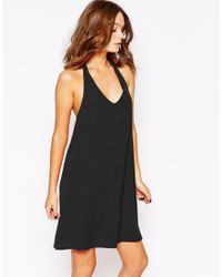 Fashion Union | Black Halter Neck Swing Dress | Lyst