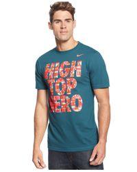 Nike | Blue High Top Hero T-shirt for Men | Lyst