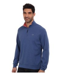Vineyard Vines | Blue 1/4 Zip Tiller Heather Sweater for Men | Lyst