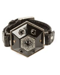 Lanvin | Black Adjustable Bracelet | Lyst