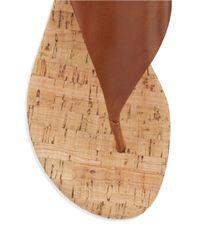 MICHAEL Michael Kors | Brown London Thong Sandals | Lyst