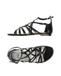 Stuart Weitzman | Black Sandals | Lyst