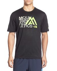 The North Face | Black 'reaxion' Graphic Short Sleeve T-shirt for Men | Lyst