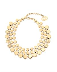 Gucci - Blue Crystal And Faux-Pearl Tiered Necklace - Lyst