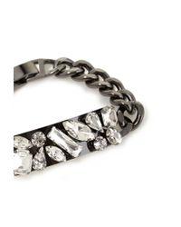 Forever 21 - Metallic Rhinestoned Chain Bracelet - Lyst