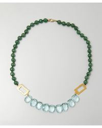 Wendy Mink | Green And Turquoise Stone Cutout Necklace | Lyst