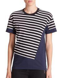 Marc By Marc Jacobs | Blue Stripe-patch Surplus Tee | Lyst