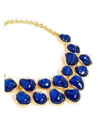 Kenneth Jay Lane - Blue Baroque Stone Crystal Bib Necklace - Lyst