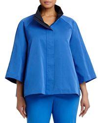 Lafayette 148 New York - Blue Zora Couture Cloth Topper - Lyst