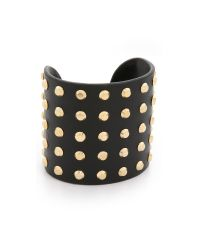 Michael Kors | Statement Astor Cuff Bracelet - Black/gold | Lyst