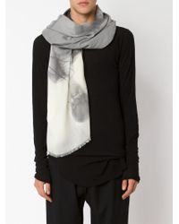 Lost & Found - Gray Radiography Print Scarf - Lyst