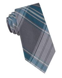Calvin Klein | Gray Silk-rich Tie for Men | Lyst
