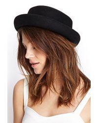 Forever 21 - Black Felted Wool Bowler Hat - Lyst