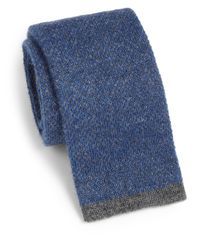 Saks Fifth Avenue | Blue Cashmere Knit Tie for Men | Lyst