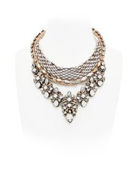Shourouk | Metallic River Chalk Necklace | Lyst