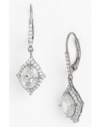 Nina - Metallic Crystal Drop Earrings - Lyst
