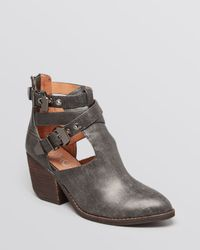 Jeffrey Campbell - Gray Everwell Mid Heel Ankle Booties - Lyst