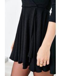Kimchi Blue   Black Cozy Ballet Wrap Dress   Lyst