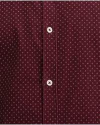 Zara | Purple Printed Needlecord Shirt for Men | Lyst