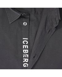 Iceberg | Black Shirt for Men | Lyst