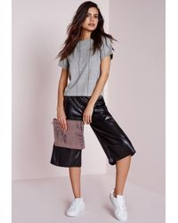 Missguided - Gray Check Shell Top Grey - Lyst
