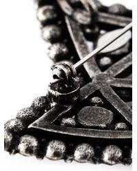 Lanvin | Metallic Crystal Embellished Star Brooch | Lyst