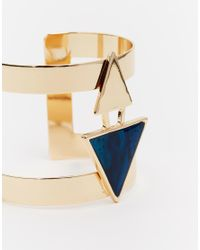 ASOS | Metallic Sleek Cuff Bracelet | Lyst