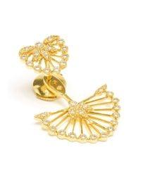 Yvonne Léon - Metallic Diamond Foliage Lobe Earring - Lyst