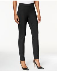 NYDJ | Black Jacqueline Solid Fitted Pants | Lyst