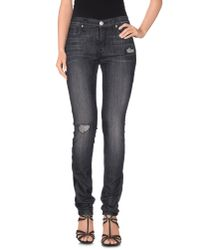 Hudson Jeans - Black Denim Trousers - Lyst