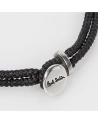 Paul Smith - Men's Silver Ganesh Charm Black Bracelet for Men - Lyst