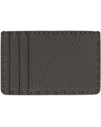 Fendi - Black Leather Selleria Card Holder for Men - Lyst