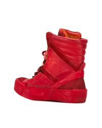 Boris Bidjan Saberi - Red Hi-top Sneakers for Men - Lyst