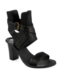 Ash | Black Quantum Heeled Sandals | Lyst