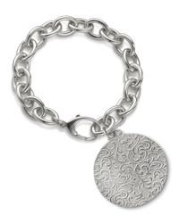 Monica Rich Kosann - Metallic Round Charm Photo Sterling Silver Bracelet - Lyst