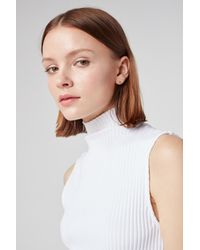 3x1 - Turtleneck Tank | White - Lyst