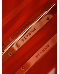 Charlotte Olympia - Red Swirl Perspex Box Clutch - Lyst