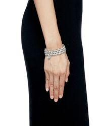 Philippe Audibert | Metallic 'nicky' Sphere Five Tier Elastic Bracelet | Lyst