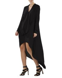 BCBGMAXAZRIA - Black Kailene High-low Dress - Lyst