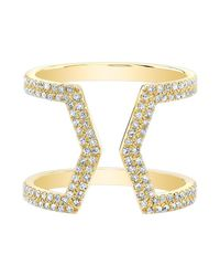 Anne Sisteron | Metallic 14kt Yellow Gold Diamond Cinder Ring | Lyst
