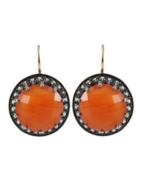 Andrea Fohrman | Metallic Carnelian Faceted Sapphire Earrings | Lyst