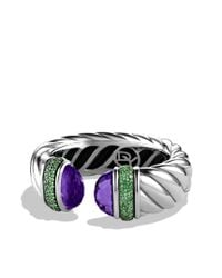 David Yurman - Purple Waverly Bracelet with Amethyst and Tsavorites - Lyst
