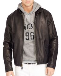 Pink Pony - Black Polo Leather Barracuda Jacket for Men - Lyst